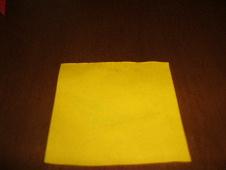 4等分にした折り紙